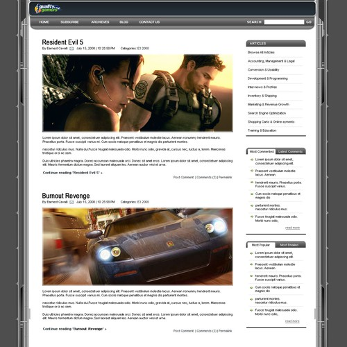 Simple blog designs, Web 2.0, Two winners!