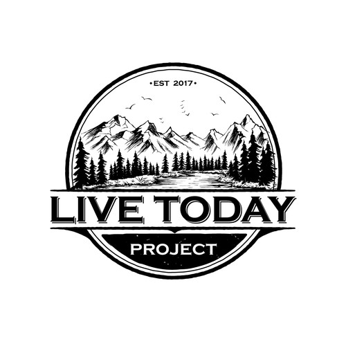 Vintage outdoor logo for LiveToday Project