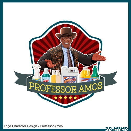 New Logo for Professor Amos cleaning products!