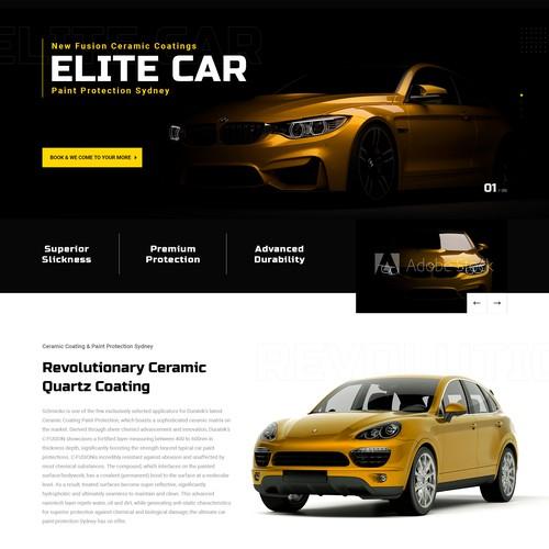 ELITE CAR - LANDING PAGE