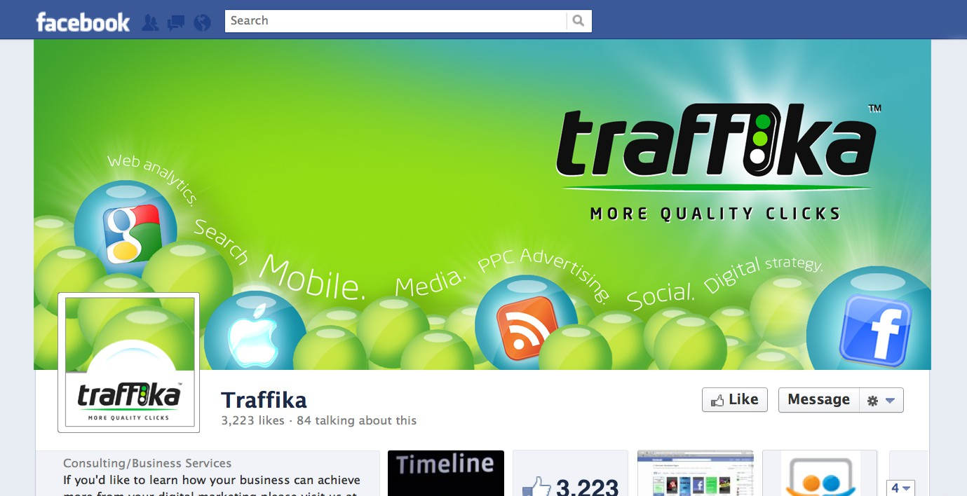 Create a Facebook Timeline for Traffika