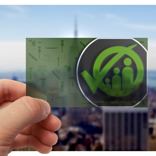 transparent smart and professional design business card