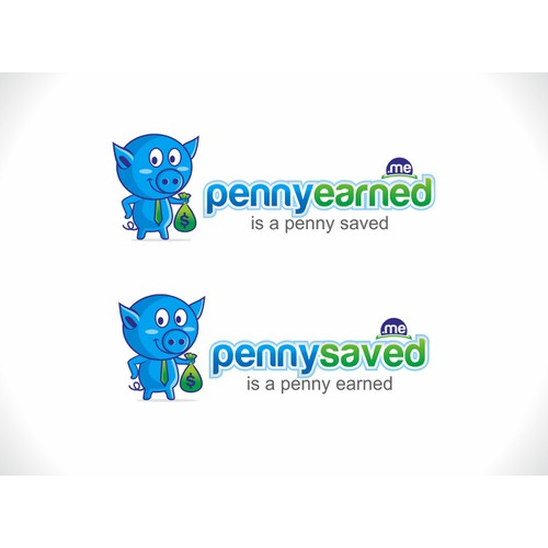 Professional but fun logo for pennysaved.me