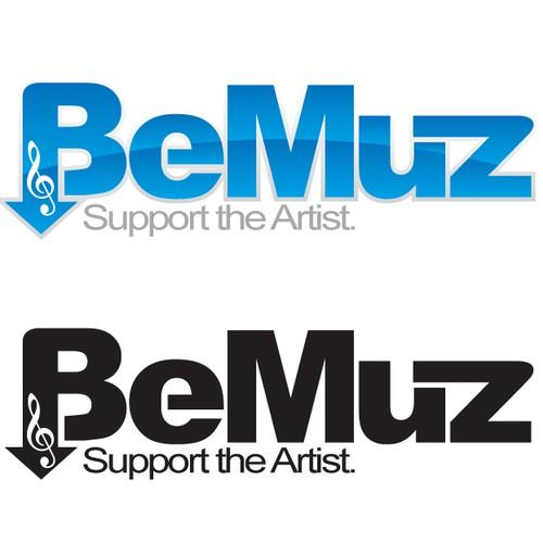 """Logo for online music startup """"beMuz"""""""