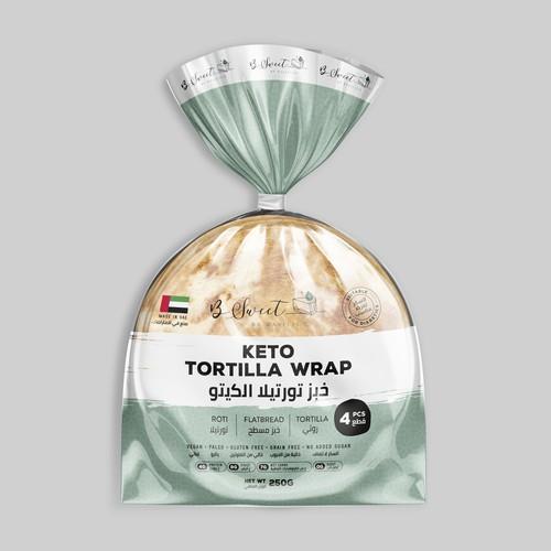 Healthy Keto Bread Bag Packaging