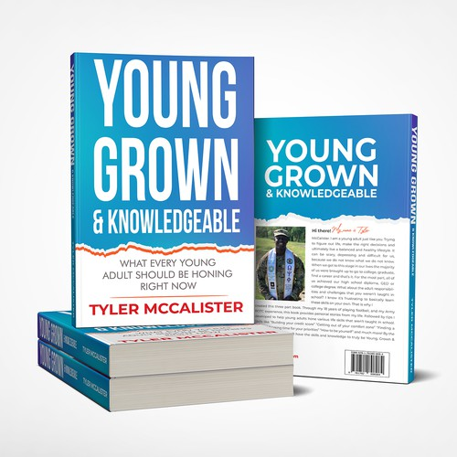 Design a CREATIVE, ATTENTION grabbing book cover for a self help book geared towards young adults.