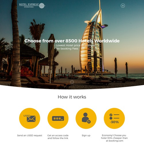 HotelExpress Landing page