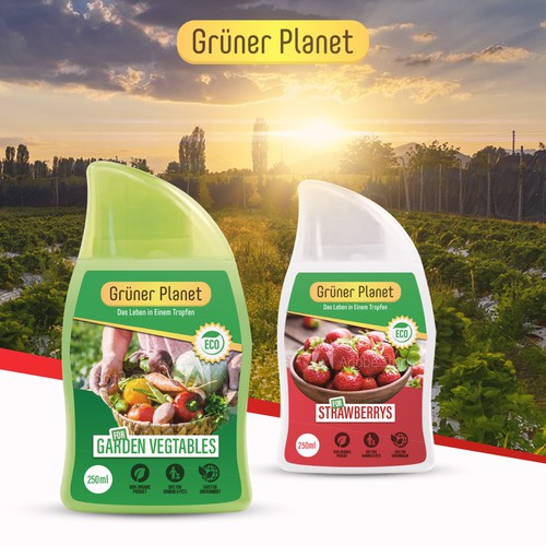 Label design for - Gruner Planet