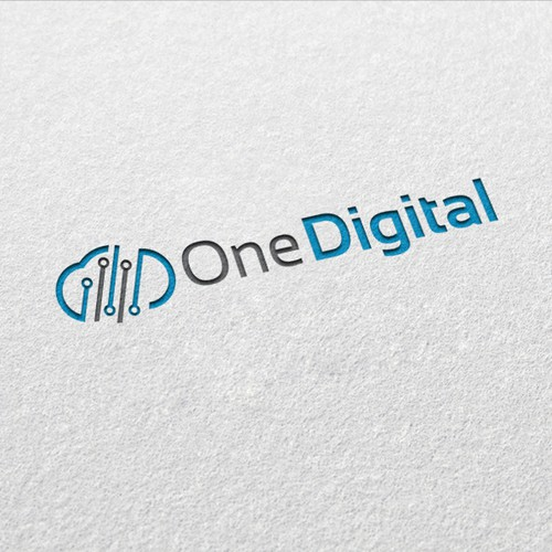 Create a logo depicting an integrated platform - One Digital