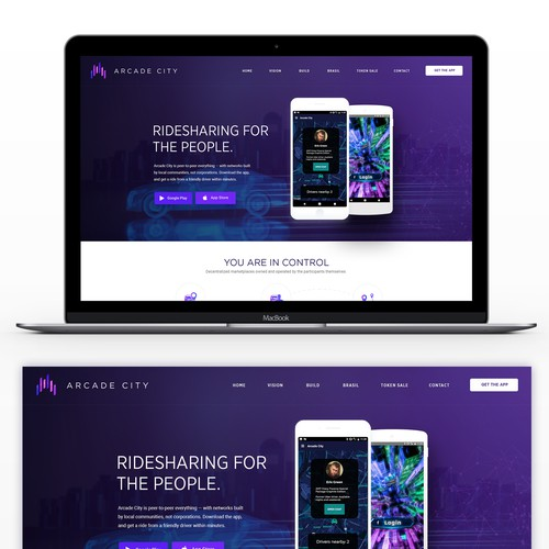 Web Designs For a Blockchain Company