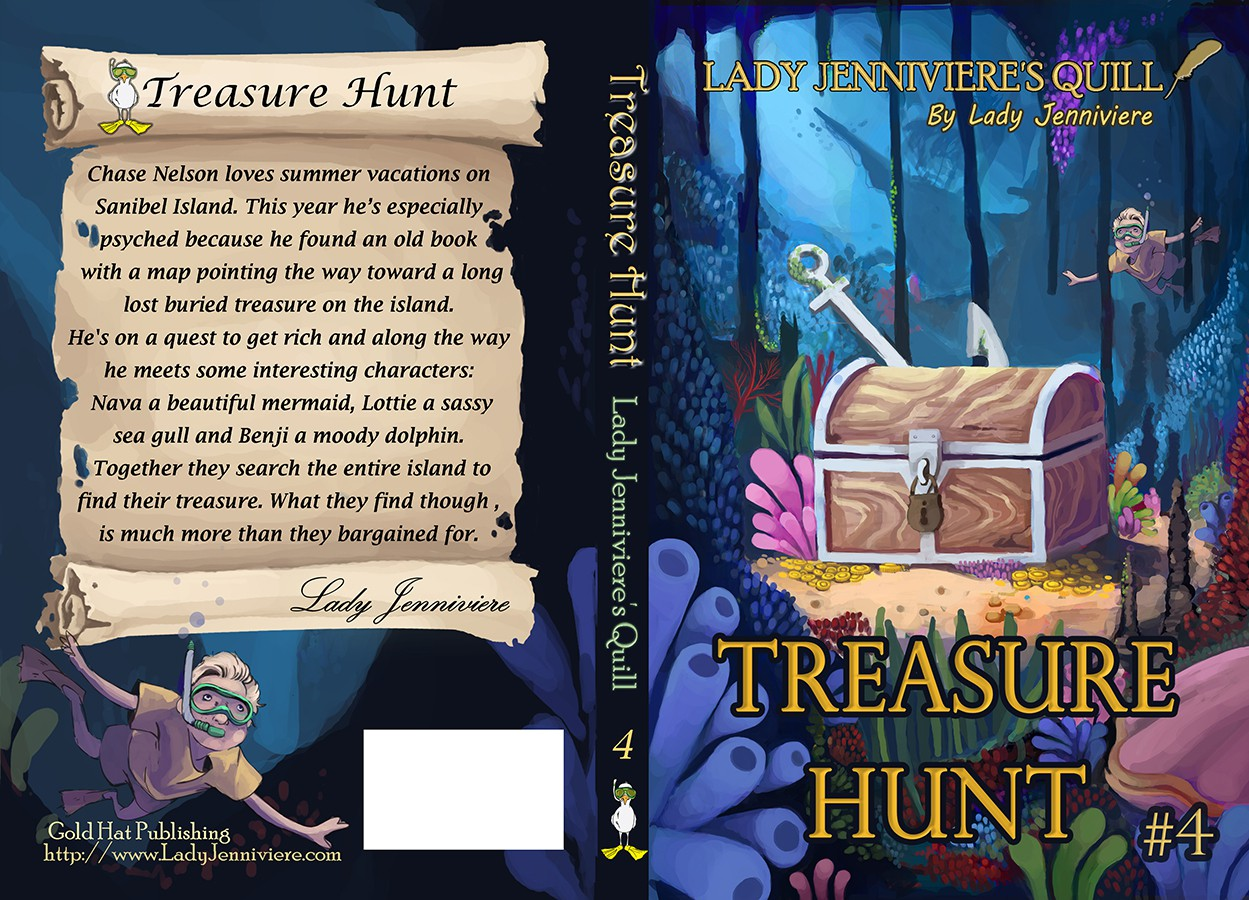 Create e-book and print cover for Juvenile fiction Treasure Hunt