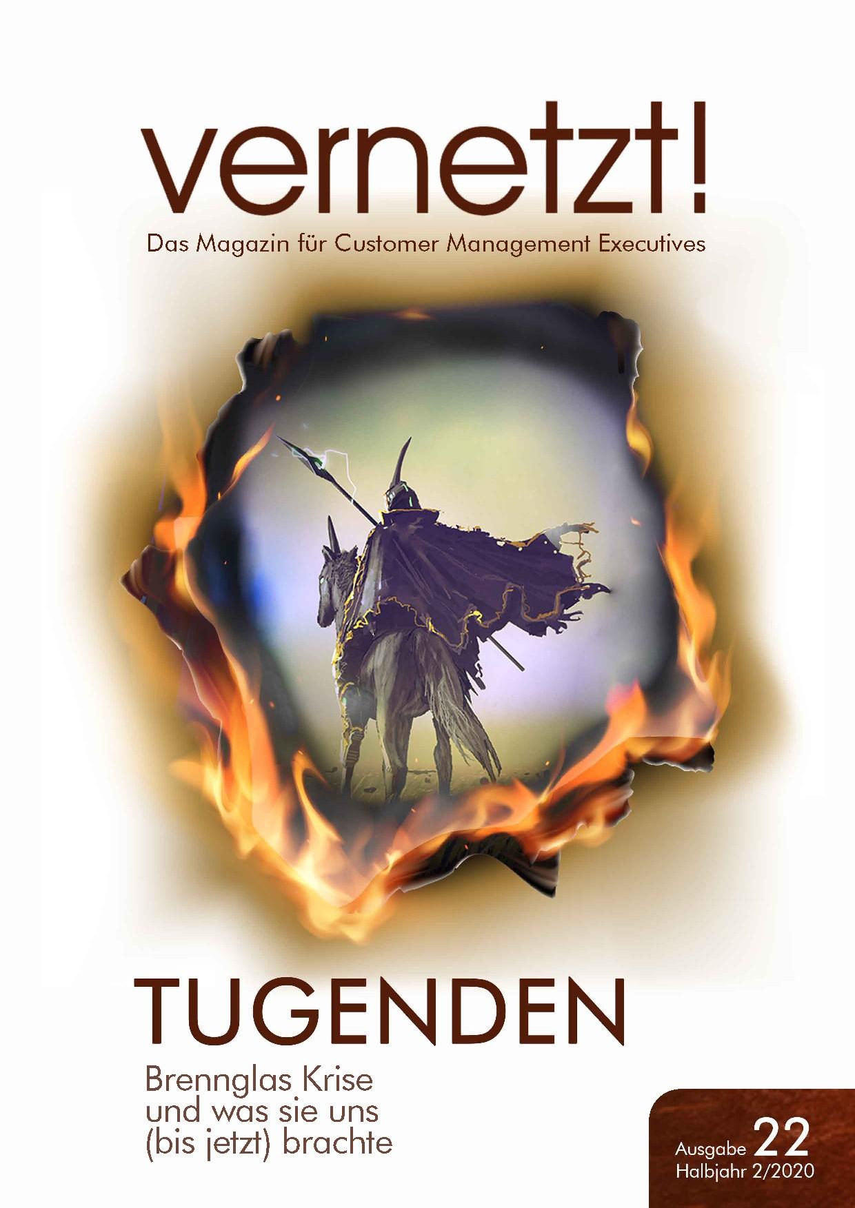 Cover für Magazin vernetzt! Ausgabe II/2020 Titel: TUGENDEN