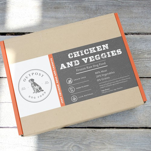 Subscription Dog Food label