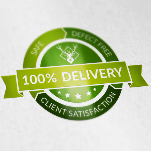 100% Delivery sticker for company for building company