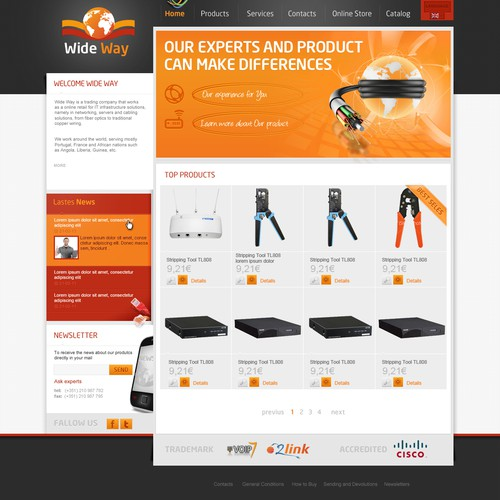 Redesign of online hardware trading company