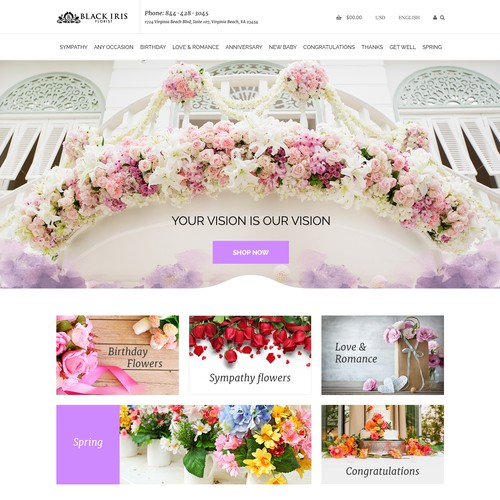 Design A Beautiful High-End Florist Website