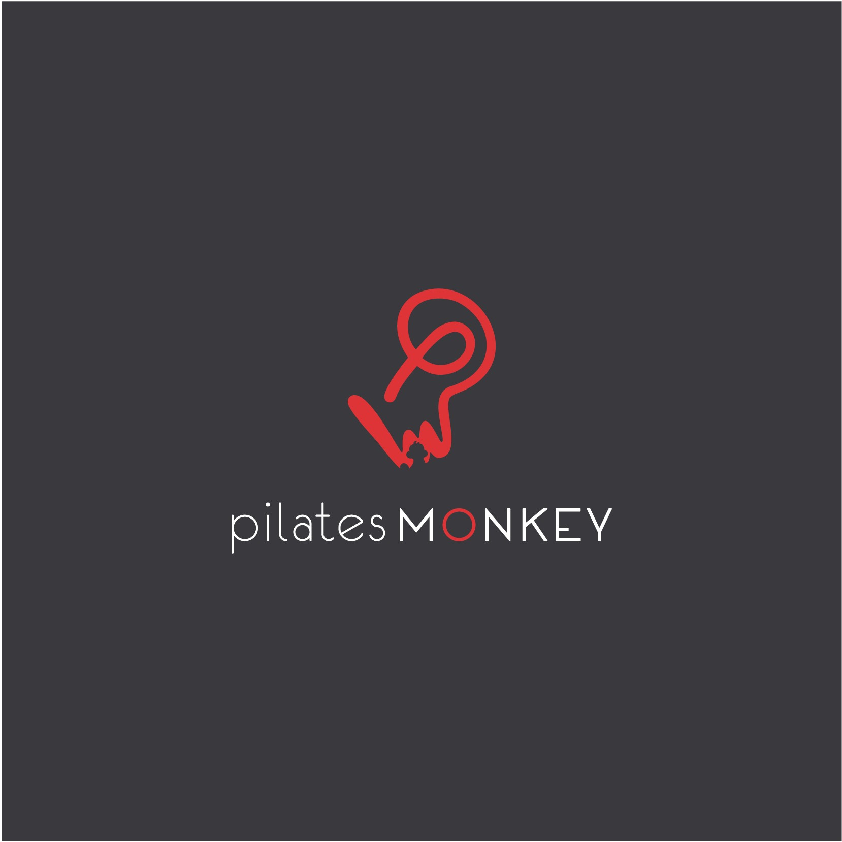 create a clever, trendy, sophisticated, urban brand identity for PILATES MONKEY