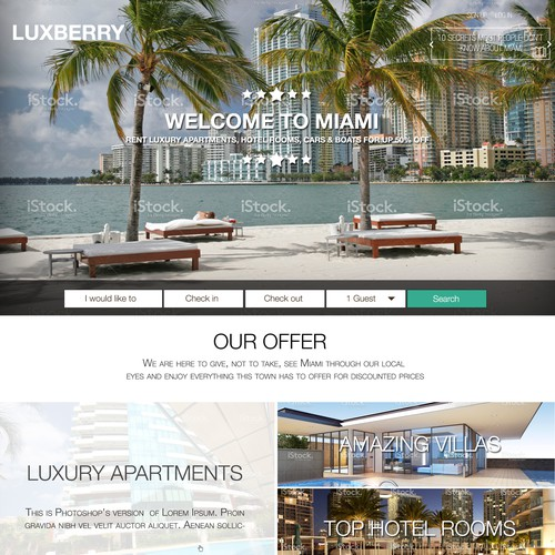 Looking for a super star to create the #1 vacation rentals website for Miami!!