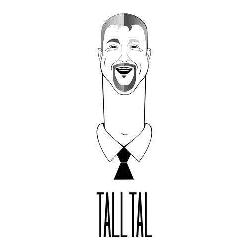 "Logo for a 6' 9"" tall Public speaker"