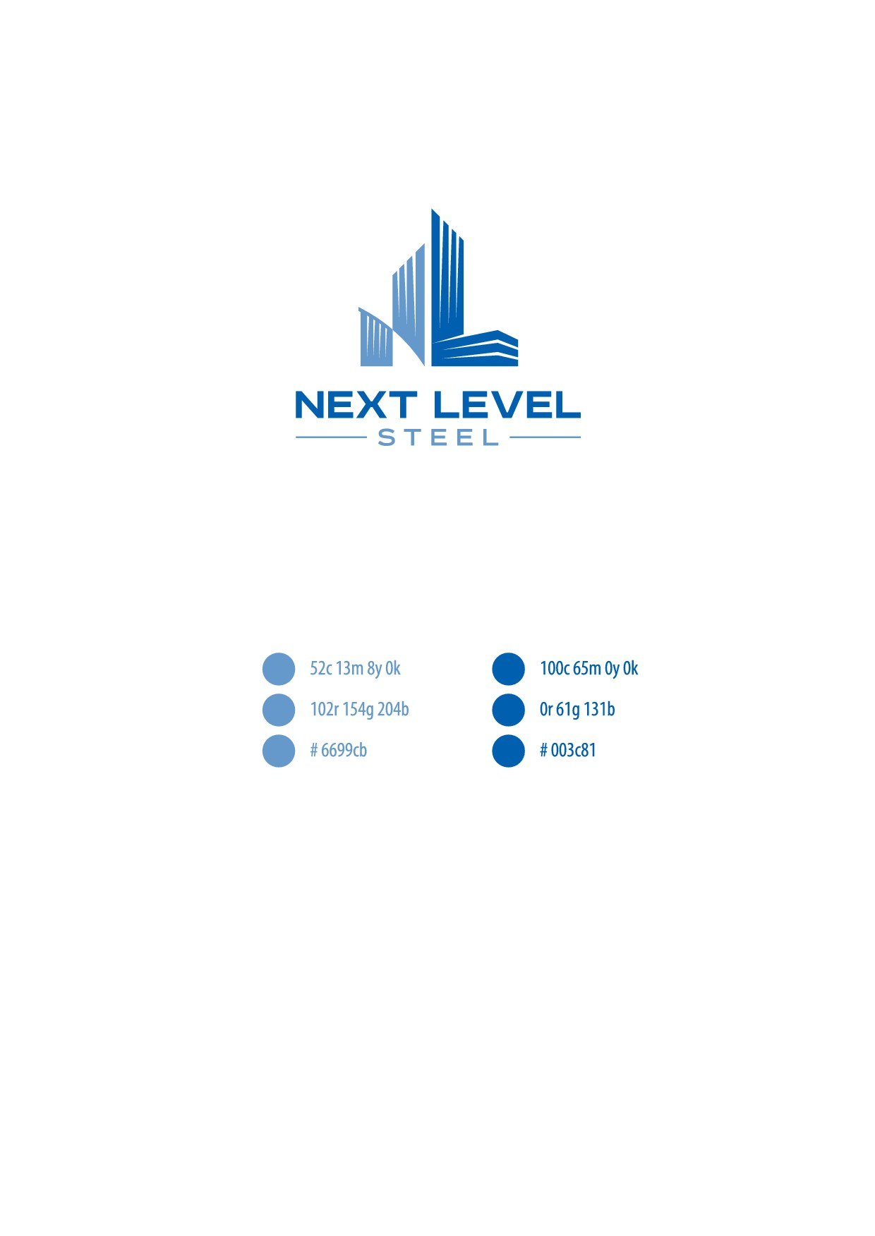 Design a logo for a POWERFUL new structural steel company