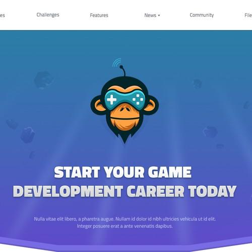 Game Development website concept