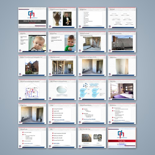 Presentation design with strong image display.