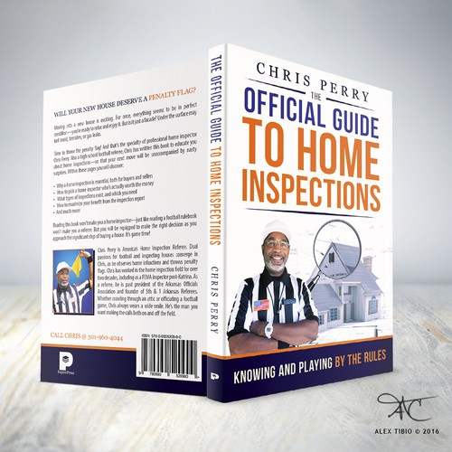 "Full cover design for Chris Perry's ""Official Guide to Home Inspections""."