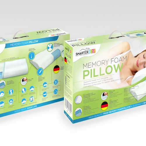 Packaging for SmarterRest (smart pillows)