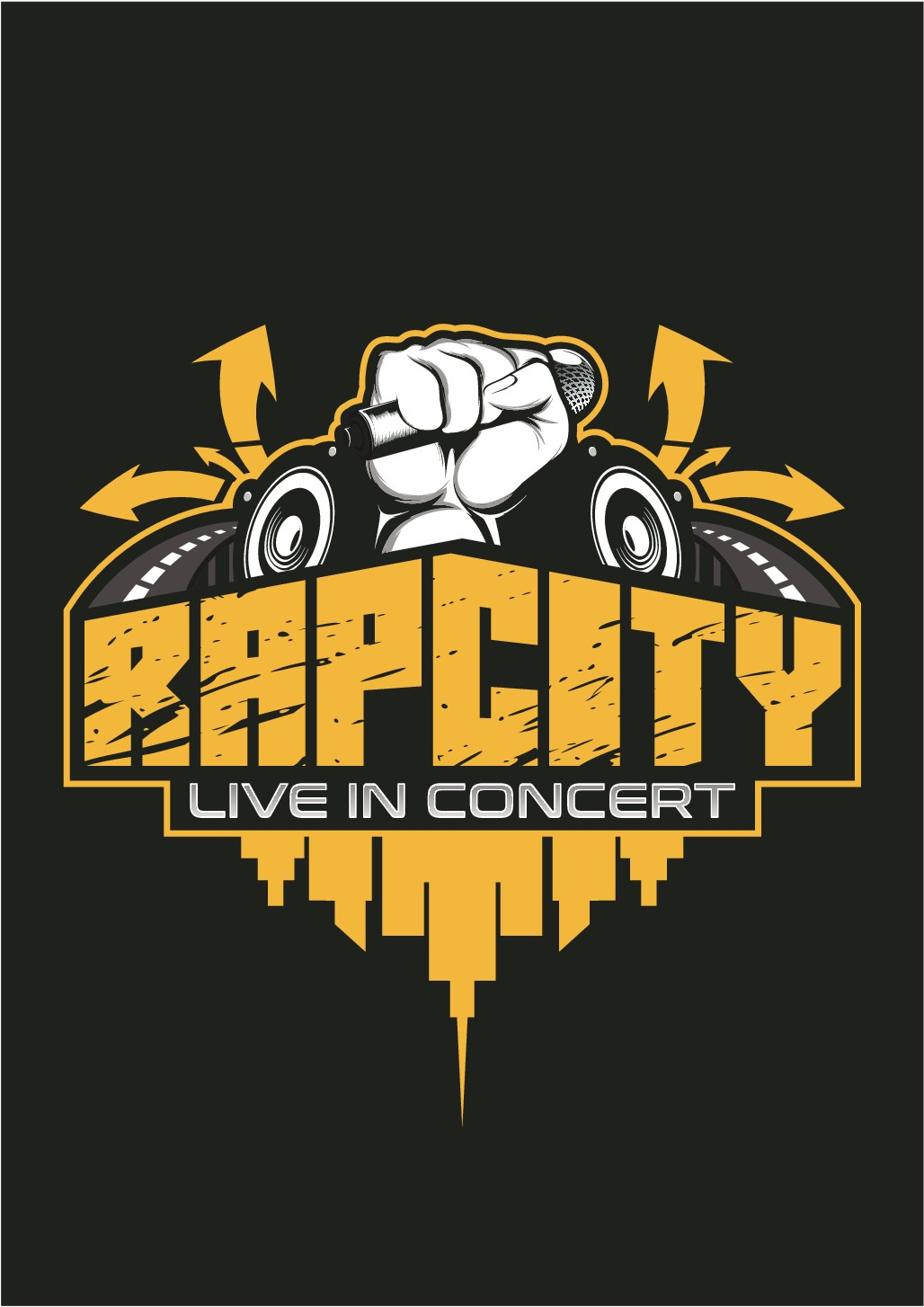 Rap City Concert Logo Design