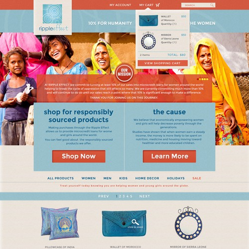 Ripple Effect needs a new website design