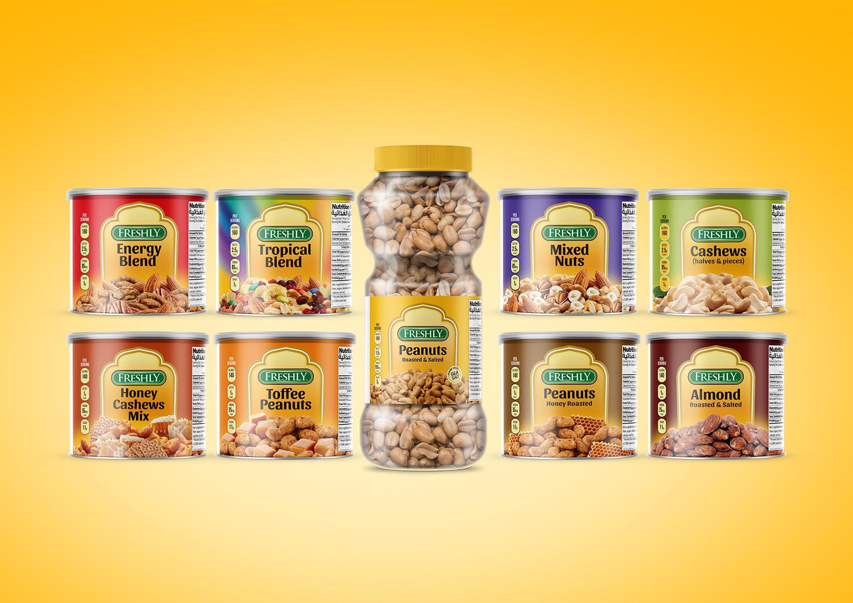 Freshly - 9 nuts labels - Makda