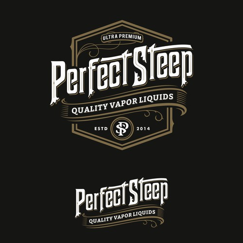 Logo for Perfect Steep, e-juice.