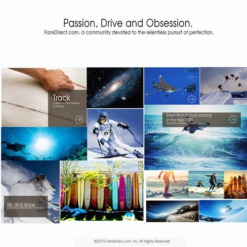 Online platform landing page design