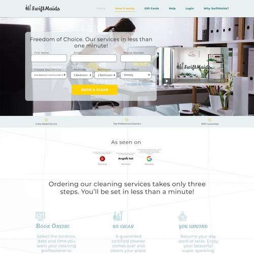 Swiftmaids Website Homepage