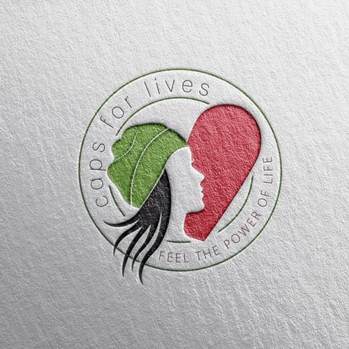Aussagekräftiges Logo für caps for lives