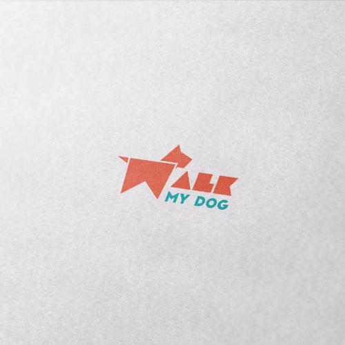 Modern, Minimalist Logo for WalkMyDog.com