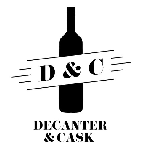 Design a luxurious yet modern logo for a whiskey and wine website