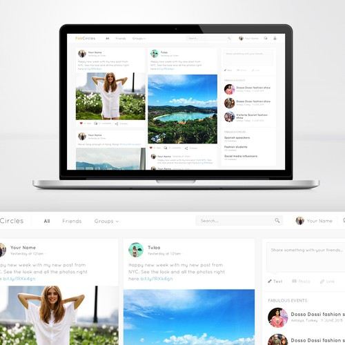 Clean webdesign for a social website