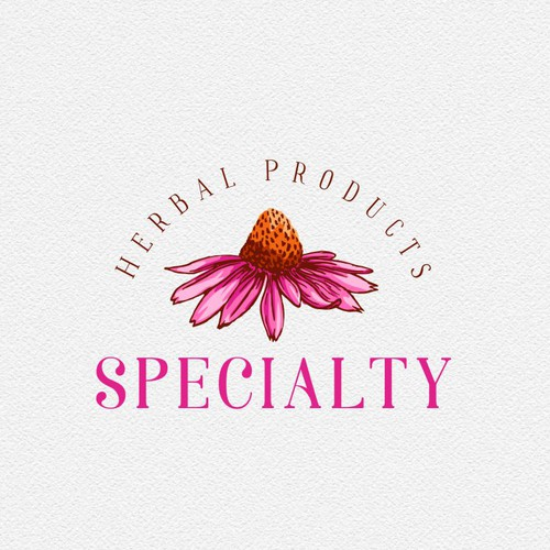 Herbal products logo - echinacea