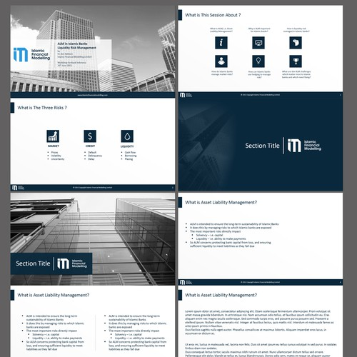Powerpoint Designs for Islamic Financial Modelling