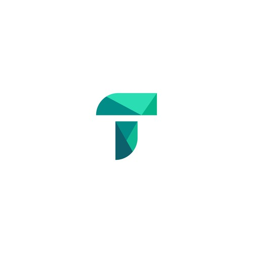 letter T logo geometrik