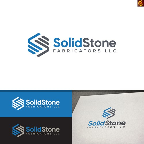 Geometric Logo for Solid Stone Fabricators LLC
