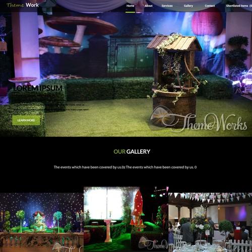Theme Work web template design