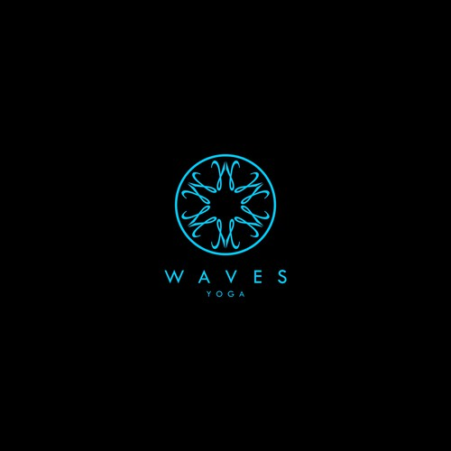 Design a trendy/sophisticated logo for Waves Yoga