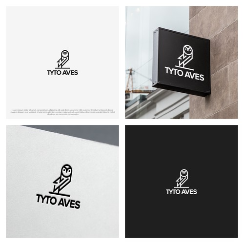 Bold minimalistic line art logo