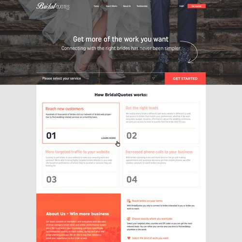 B2B Bridal Website
