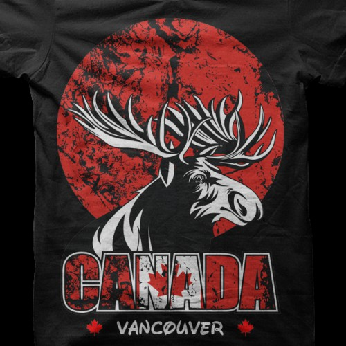 Design the first t-shirt for a Canadian themed clothing company and become our new designer