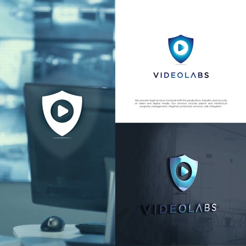 Create a professional, sophisticated design for a legal services company, VideoLabs, Inc.