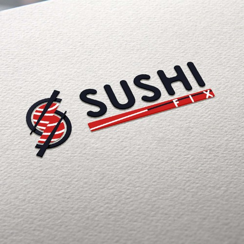 logo concept for sushi restaurant