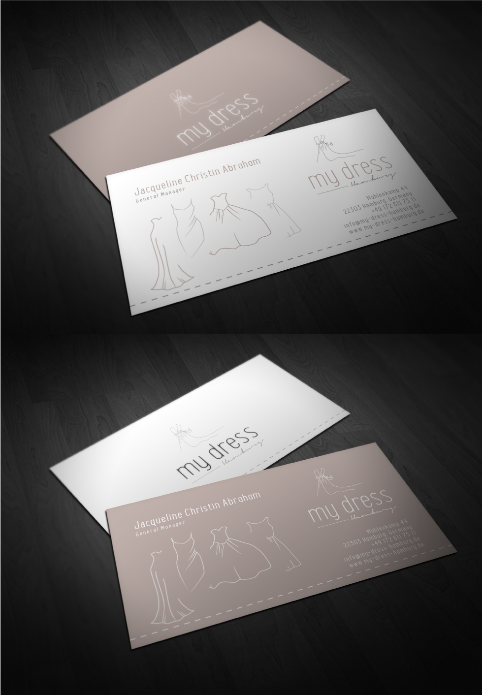 "Female, premium, elegant, modern & natural - LOGO for ""my dress hamburg"""